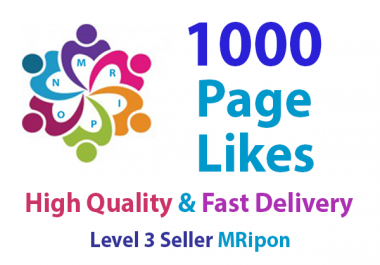 Start Instant 1000 High Quality Page Likes Promotion