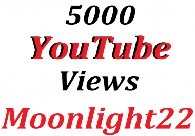 super offer 5.000 High Quality Vieews Fully Safe Instant Start Lifetime Guaranteed