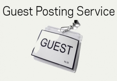 I Will Publish 8 High Authority Guest Post With Permanent Link