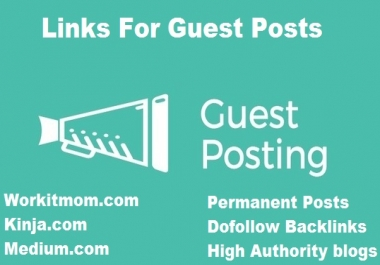 """""""I Will """" publish 3 high Authority sites guest post"""