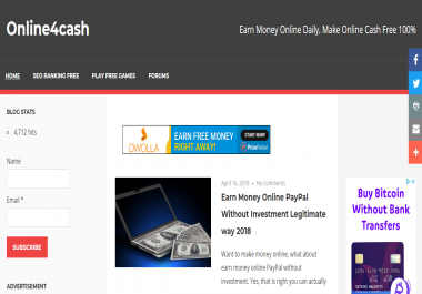 Guest Post on Money Making Website online4cash.us With 4,000 Social Signals