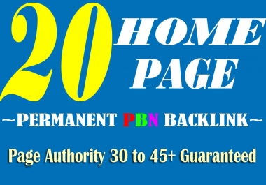 Create Manually 20 HOMEPAGE High Quality DA-PA 35+ PBN SEO Backlink