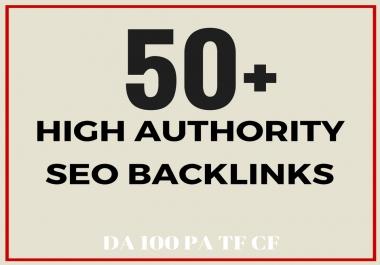 Create 50+ Topic Relevant High DA100 PA,TF SEO Backlinks, Skyrocket Your Ranking