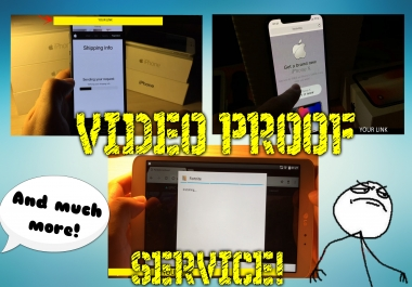 PC/PHONE PROOF VIDEO, ( HACK PROOF ) -  show your site/app/CPA CONTENT/game/hack! IN GOOD QUALITY!