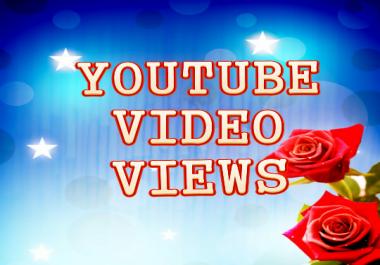 Get 50k-60k  hige qulites  Non Drop Video views 1-2days  Delivery