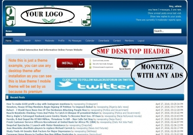 Design Seo Friendly SMF Forum Website  With Boards Categories Mobile Theme