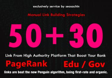 Skyrocket your Ranking, 50 PR + 30 EDU GOV High Trust Authority Safe Backlinks