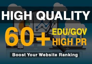60+ High Pr and EDU/Gov backlinks