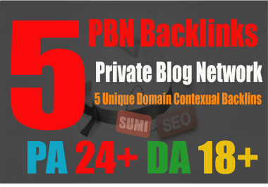 Permanent 5 PBN Links From My Top Private Blogs - PA 25 DA 20