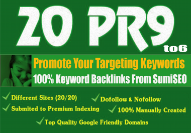20 Keyword Backlinks from Authority Domain, Skyrocket Your Ranking