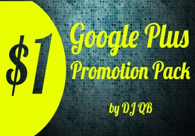 Google Plus Promotion Pack