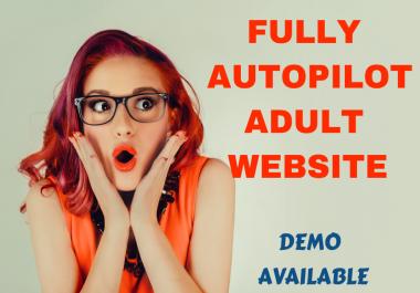 Profitable XXX Website in 24 hour- Fully Autopilot