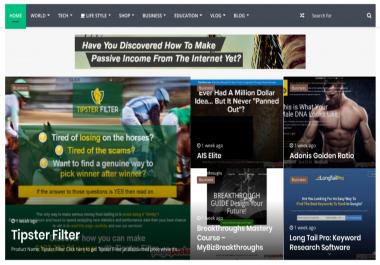 AD SERVICE - ON 6 WEBSITES