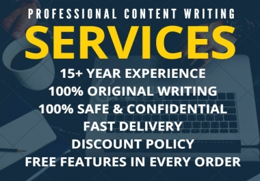 Premium Content Writing, High Quality Article, LSI Article, SEO Article, Blog, Essay Writing 1,000 Words
