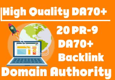 Unique PBN 20 PR9 DA70+ backlink (Domain Authority)