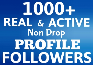 Add 1000+ Followers Real and Active HIGH QUALITY to your SEO Account