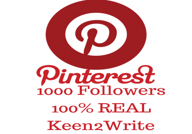 1000 Pinterest Followers Within 24 Hours