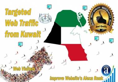 Kuwait web visitors Real targeted High Quality web traffic