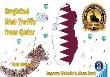 Qatar web visitors Real targeted High Quality web traffic