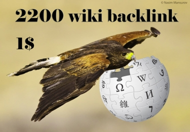 2200 wiki backlinks (mix profiles & articles)