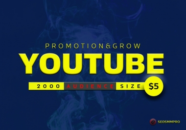promote video on youtube high audience and marketing