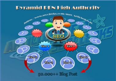 100 PREMIUM Backlinks DA 90 (Tier 1) + 50.000 Blog Post (Tier 2)