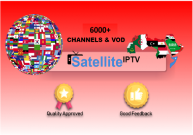 1 Year Satellite IPTV Channels&VOD subscription 6000+ Europe,Latin,Arab,UK,VOD