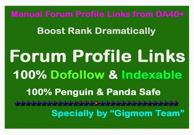 ULTRA Manual 400 Dofollow Forum Profile Links from DA40+ to Boost Rank