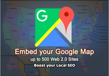 Embed Google Map In 500 Web 2 0 Sites To Boost Your Local SEO