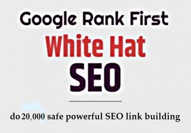 do 20000 safe powerful SEO link building
