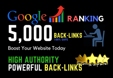 I will do 5000 safe powerful SEO link building
