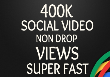 Start Instant 400K+ Social Video Views to your SEO profile