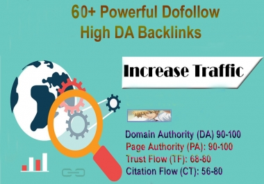 Boost Your Google Ranking 60+ Powerful High DA Dofollow Backlinks Instant Results