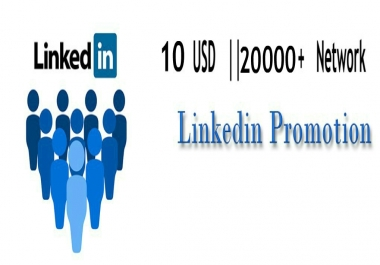 Promote You Or Your Content Over 20k Linkedin Network