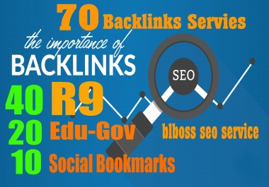 40 PR9 + 20 EDU-GOV + 10 SOCIAL BOOKMARKS Backlinks From Authority Domains