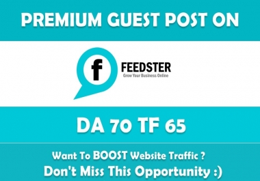 Write & Publish Guest Post on Feedster. Feedster.com - DA70
