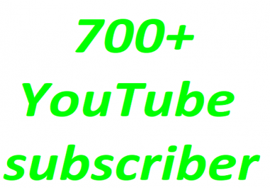 700+Youtube channel subscriber non drop instant start Just