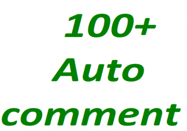 100+Youtube auto comments non drop guaranteed 12-24 hour in complete