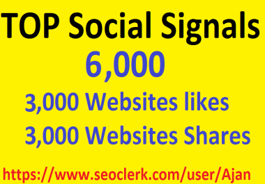 6,000 Social Signals From Top 1 Social Media Websites Increase Your SEO Ranking