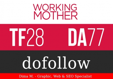 Publish Guest Post on WorkingMother.com DA 76 PA 75