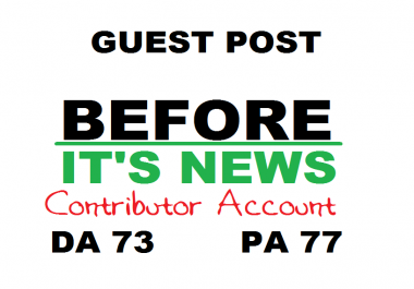 Get you a DOFOLLOW backlink / guest post on BeforeItsNews.com (DA78)