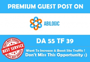 Write & Publish Guest Post on Abilogic.com - DA 55 - Premium Dofollow Backlink