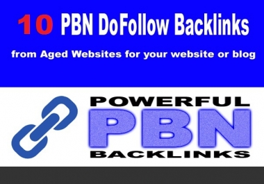 Do 10 pbn backlinks with high domain metrics to improve ranking