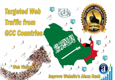 GCC Countries web visitors Real targeted High Quality web traffic