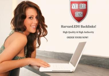 Harvard .EDU Backlink High Domain Authority of 93