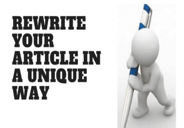 Seo Plus Article or Blog Rewrite with UNLIMITED WORDS