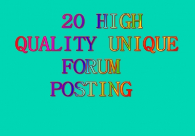 20 High Quality Unique Forum Backlinks