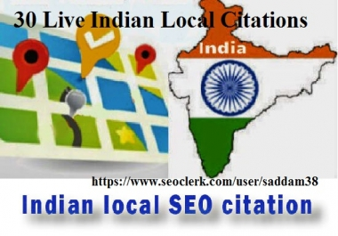 Create 30 Live Indian Local Citation for Local SEO