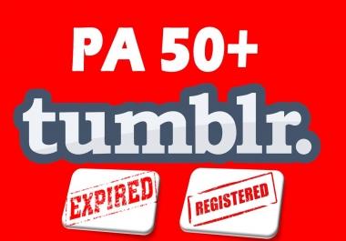 Register Expired Tumblr PA 50+