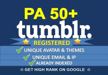 Find and Register 2 Expired Tumblr PA50 Plus Unique IP